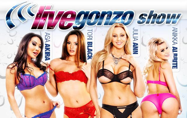 Lesbian Action With Tori Black, Asa Akira, Julia Ann and Anikka Albrite!