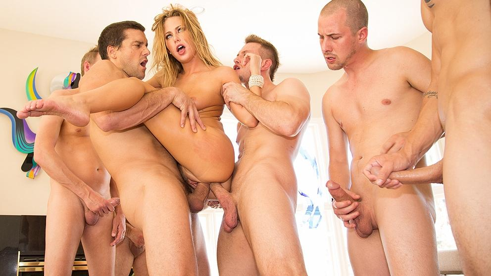 Carter Cruise's First Gang Bang - Slut Puppies 9