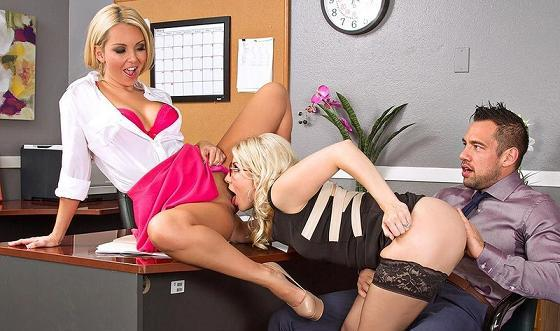 Ashley Fires & Aaliyah Love in Naughty Office